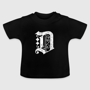 Detroit T Shirt Graphic D Distressed - Baby T-Shirt