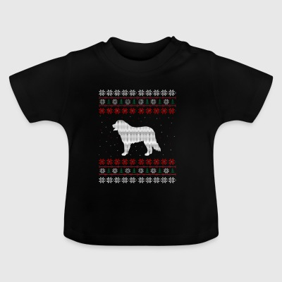 Berner Sennen hund Ugly Xmas Sweater gave Chris - Baby T-shirt