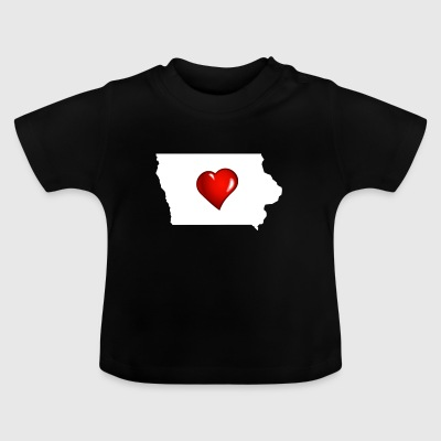 I Love Iowa - Baby T-Shirt