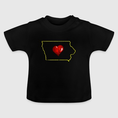 I Love Iowa Distressed - Baby T-Shirt