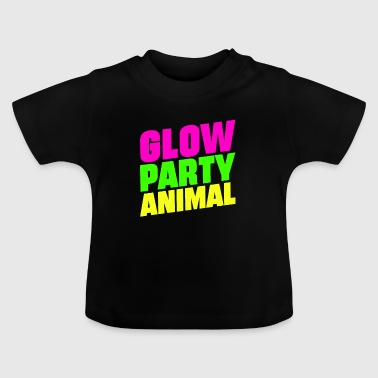 Glow Party Animals Bright neon farver sjov - Baby T-shirt