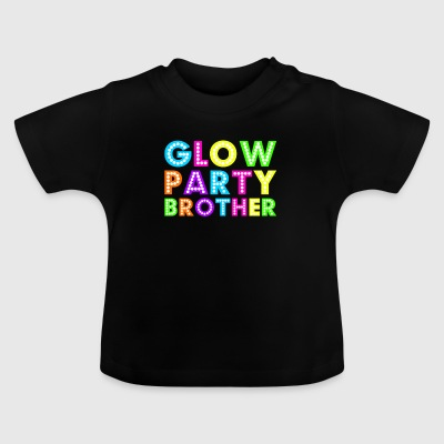 Glow Party Brother - Baby-T-skjorte