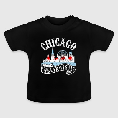 Chicago Illinois Vintage City Distressed - Baby T-Shirt