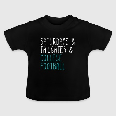 Lørdage bagklapper College Football - Baby T-shirt