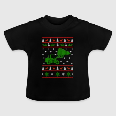 excavator ugly christmas jumper - Baby T-Shirt