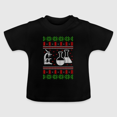 chemistry experiment ugly christmas jumper - Baby T-Shirt