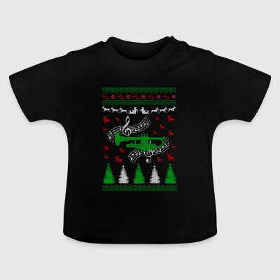 Trumpet Ugly Christmas Jumper - Baby T-Shirt
