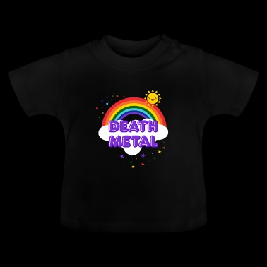 Death Metal Rainbow - Sarcastic Metal Smiling Sun - Baby T-shirt