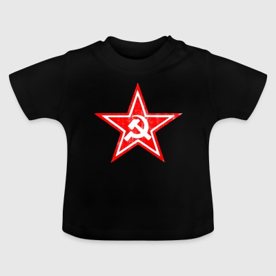 Hammer sickle communist star - Baby T-Shirt