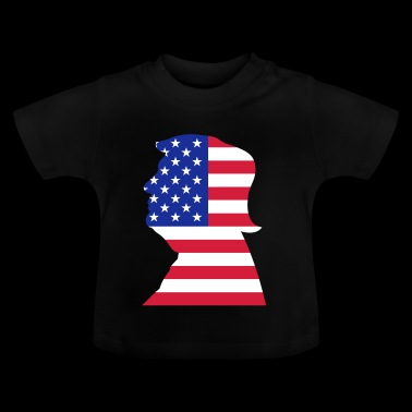 Trump US USA Flag - Baby T-shirt