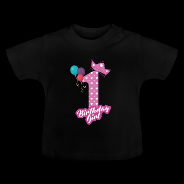 Brithday Girl en födelsedag - Bday - Baby-T-shirt