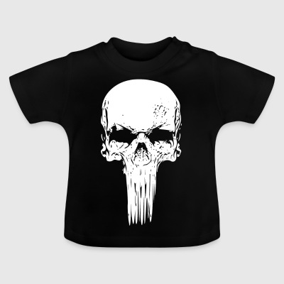 Skull long white - Baby T-Shirt