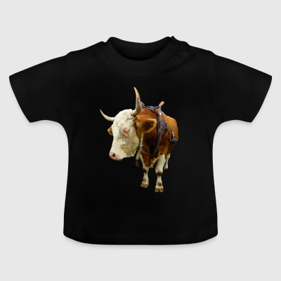 cow beef rind kuh animal tier - Baby T-Shirt