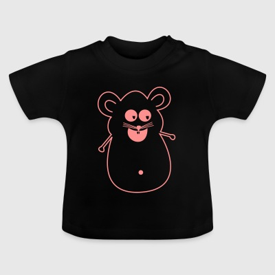 Mouse pink silhouette - Baby T-Shirt