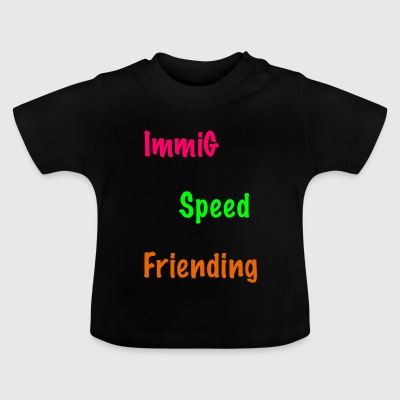 ImmiG Speed ​​Frieding / pink-grøn-orange - Baby T-shirt