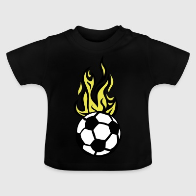 soccer ball soccer flame fire flame - Baby T-Shirt