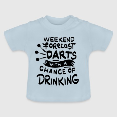 Dart Weekend forecast Darts and Beer - Baby T-Shirt