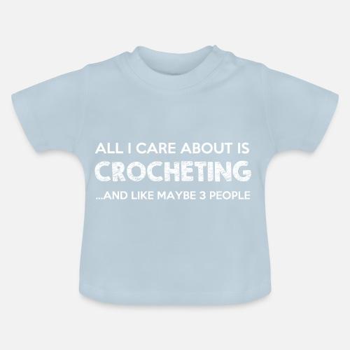 Häkeln Stricken Handarbeit Hobby Wolle Geschenk Baby T Shirt