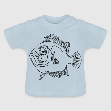 Fish perch ocean seawater aquarium fishing - Baby T-Shirt