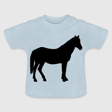 Hingst Horse silhuet | gave - Baby T-shirt