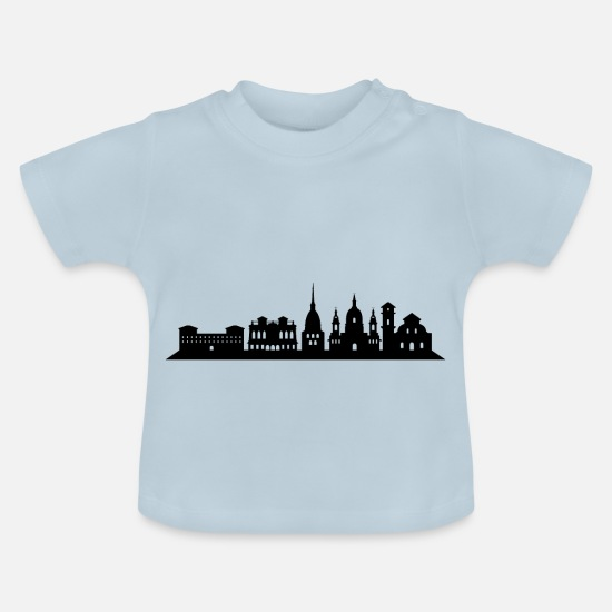 Panorama Baby Clothes - turin skyline - Baby T-Shirt light blue