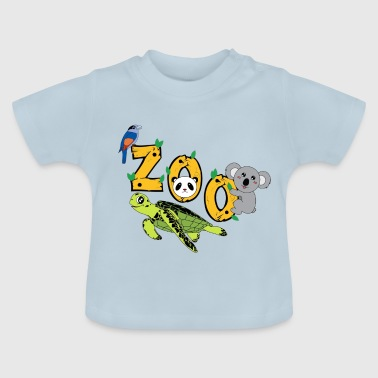 Animals of the ZOO Children, wildlife as in the jungle - Baby T-Shirt