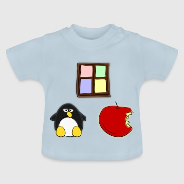 Linux Apple Windows - Baby T-Shirt