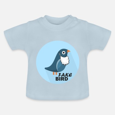 Officialbrands T-Shirt Bird Fake News - Maglietta per neonato