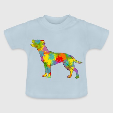 Staffie multicolor - Camiseta bebé