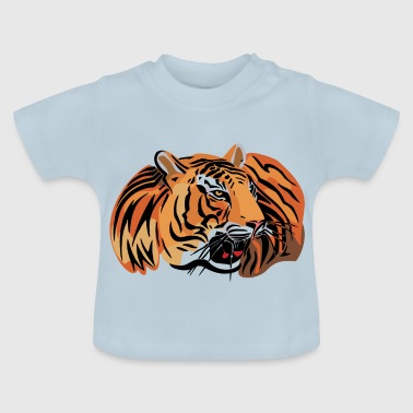 wild tiger head color - Baby T-Shirt