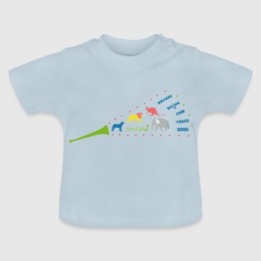 Trumpet with animal sounds on children's clothing - Baby T-Shirt