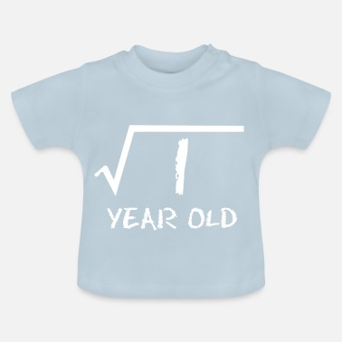 1 Year Old 1 year old math root - Baby T-Shirt