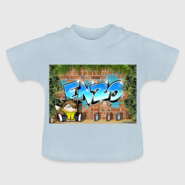 Enzo Graffiti Name - T-shirt Bébé