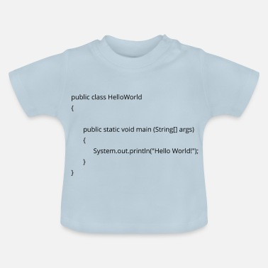 Java java hello world - Baby T-Shirt