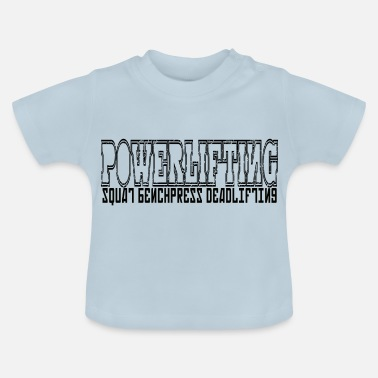 Powerlifting simple POWERLIFTING - Baby T-Shirt