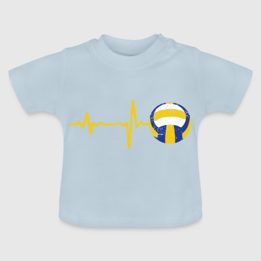 Gift heartbeat volleyball - Baby T-Shirt