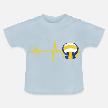 Beach Volleyball Gift heartbeat volleyball - Baby T-Shirt