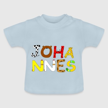 Johannes Name Johannes with animal letters - Baby T-Shirt