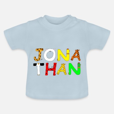 Jonathan Name Jonathan with animal letters - Baby T-Shirt