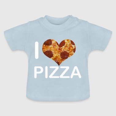 I love pizza - love - Baby T-Shirt