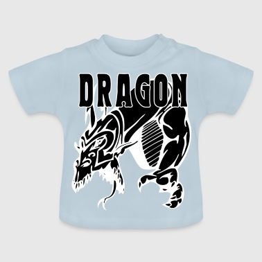 Drage angriber sort - Baby T-shirt