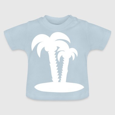 Palm trees palm holiday - Baby T-Shirt