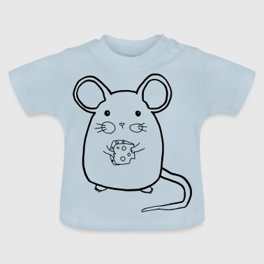 Mouse with cheese - Baby T-Shirt