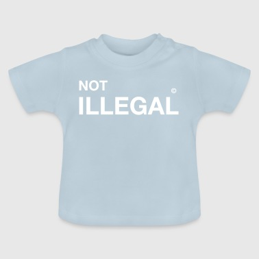 inte olagligt flyktinginvandrare-immigrant demo - Baby-T-shirt