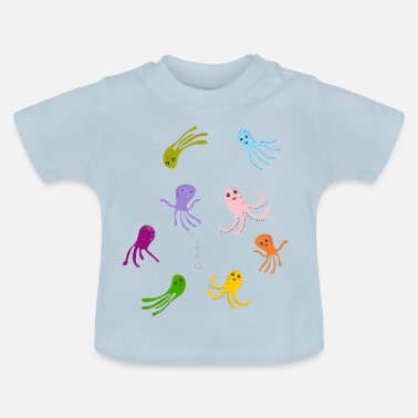 kraken tentáculo agua juego los niños divertida - Camiseta bebé 477ac764b28ea