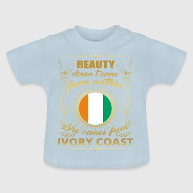 Beauty comes from princess IVORY COAST gift qu - Baby T-Shirt