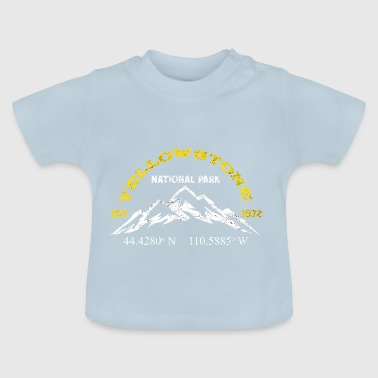 Parc national de Yellowstone 1872 Longitude Latitude - T-shirt Bébé