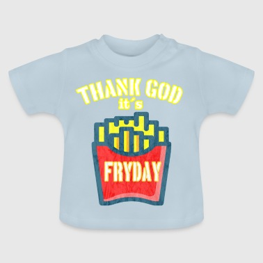 Fryday Fries vintage fries - Baby T-Shirt
