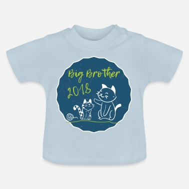 Hermanita Big Brother Cat Shirt 2018 Regalo para el nacimiento - Camiseta bebé