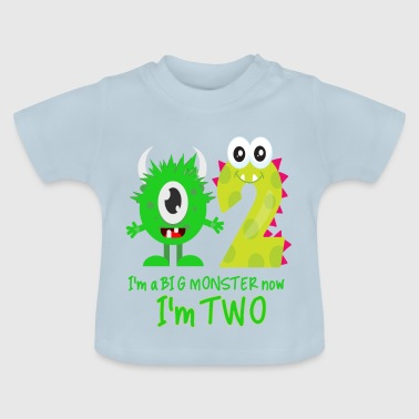 FUNNY 2ND BIRTHDAY MONSTER DESIGN - Baby T-Shirt